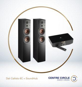 DALI Callisto 6C + Sound Hub (with NPM-1 BluOS steaming card)